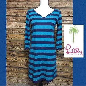 Lilly Pulitzer Striped Cotton V Necked Tunic🦋XS